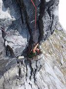Rock Climbing Photo: Blake Herrington following the overhanging radiato...