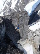Rock Climbing Photo: Blake Herrington on one of the splitter cracks alo...