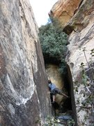 Rock Climbing Photo: The slab or chimney option others have mentioned.