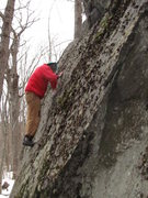Rock Climbing Photo: The angle of the slab.
