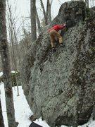 Rock Climbing Photo: At the top. A fair amount of air below.