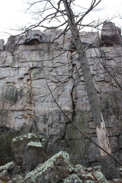 main area of rock