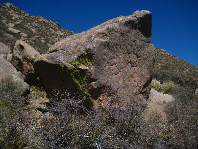 Screaming Jihad is located directly behind this boulder about 20 yards