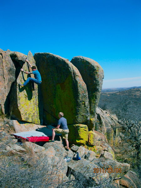 Rock Climbing Photo: some boulders on private property.