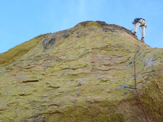 Rock Climbing Photo: 5.10b up at goosehead