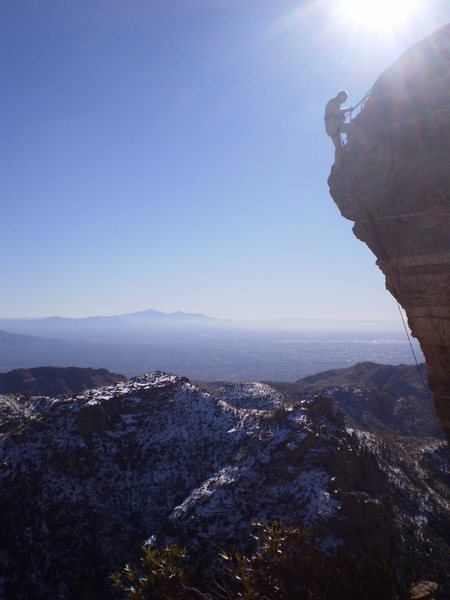 Rock Climbing Photo: Chillin at anchors on Steve's Arete