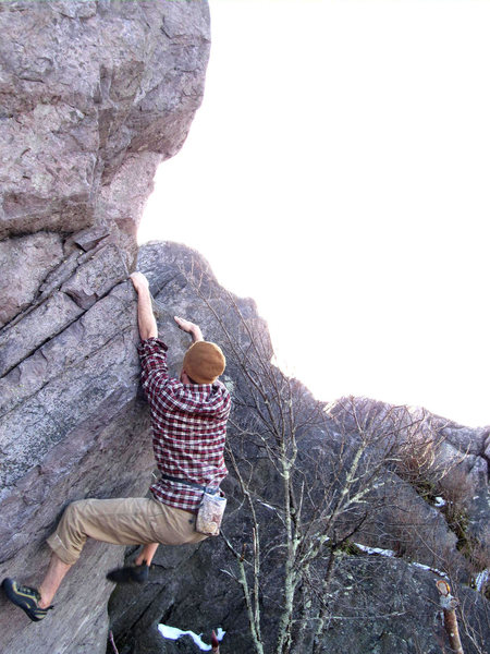 "Rock Climbing Photo: Sam Stephens on the FA of ""Braveheart"" (..."