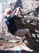 "Rock Climbing Photo: Sam on ""Volatile""(V3/4)"