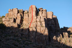 """Rock Climbing Photo: """"French Direction"""" in red"""