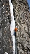 Rock Climbing Photo: Me on The Thrill in fat conditions.