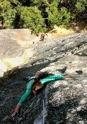 Rock Climbing Photo: The final steep bit before the anchors.
