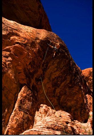 Rock Climbing Photo: Kurt Prond at the crux.