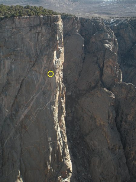 Climbers hunkered down in their ledge at the top of pitch 12? Hallucinogen Wall, March 29, 2011.
