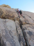 "Rock Climbing Photo: My compadre ""Zip"" on his first lead back..."