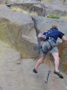 Rock Climbing Photo: Falling off a 10c