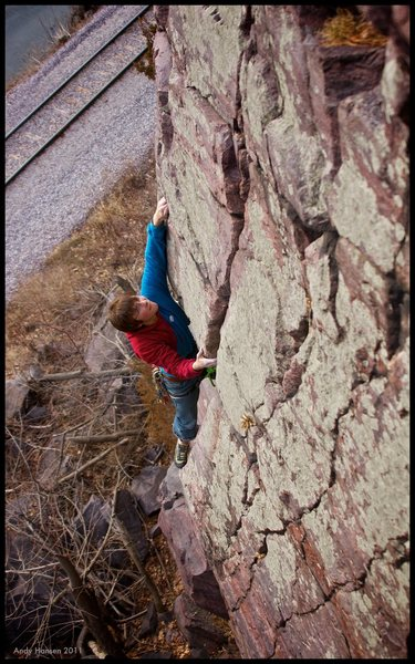Rock Climbing Photo: Tony Brengosz classically cool on the upper portio...