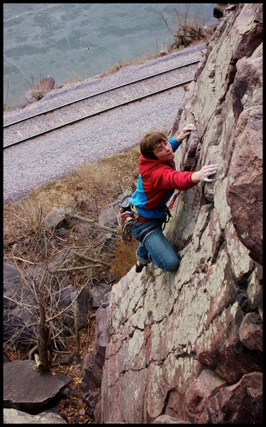 Rock Climbing Photo: Tony Brengosz on Cop Out.