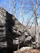 """Rock Climbing Photo: Matt on """"Pocket Shot"""" (V1/2)"""