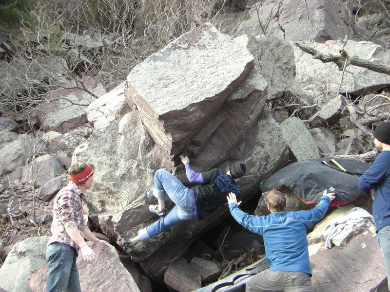 Rock Climbing Photo: The Gentleman getting locked in.