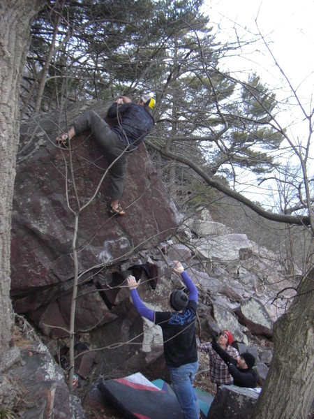 Rock Climbing Photo: Vinny topping-out.