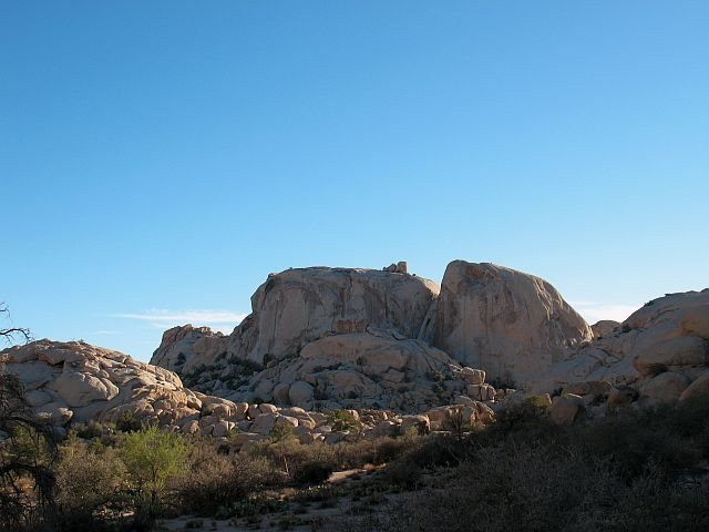 The Astro Domes from the northeast, Joshua Tree NP <br>