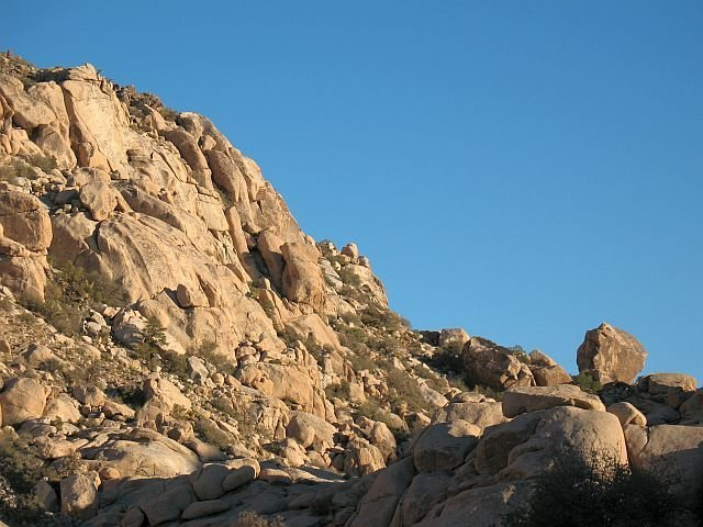 Don Genaro Cliffs and Don Genaro Boulder, Joshua Tree NP