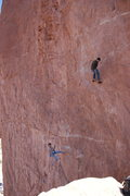 Rock Climbing Photo: Falon and Steve on the King Swing!