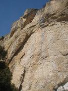 Rock Climbing Photo: Beginning up the big corner of Cutthroat.