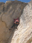 Rock Climbing Photo: Mike cruising through the crux.  Easy for the grad...