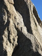 Rock Climbing Photo: The first bolt on Helios  5.11c R