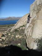 Rock Climbing Photo: Eric (Jedi) Odenthal leading Helios  5.11c R