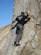 Rock Climbing Photo: Eric (Jedi) Odenthal leading Helios  5.11c R