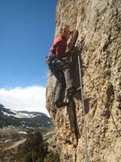 Rock Climbing Photo: Mike getting aggro for Monkeys on the Moon.  He wo...