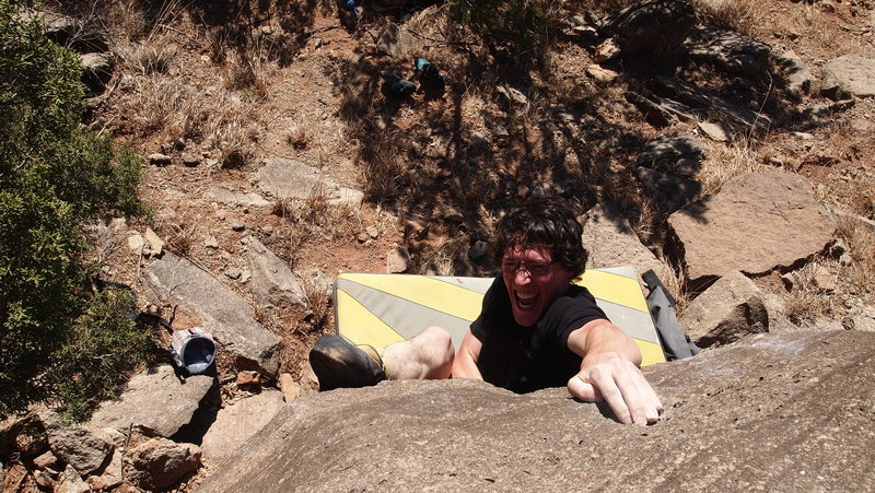 Rock Climbing Photo: Casey working his new project on The Grit Block