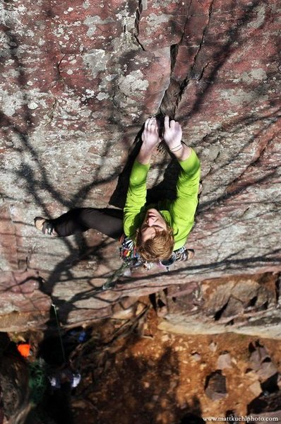 Rock Climbing Photo: Andy Hansen placing pretty pieces.   mattkuehlphot...