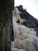 Rock Climbing Photo: 10% Real in 4+ early spring condition mid-March 20...