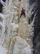Rock Climbing Photo: Wes Bender of Thunder Bay leading the right side o...