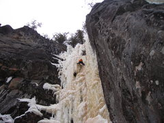 "Rock Climbing Photo: ""Ranxerox Tangent"" mid-march 2011.  In m..."