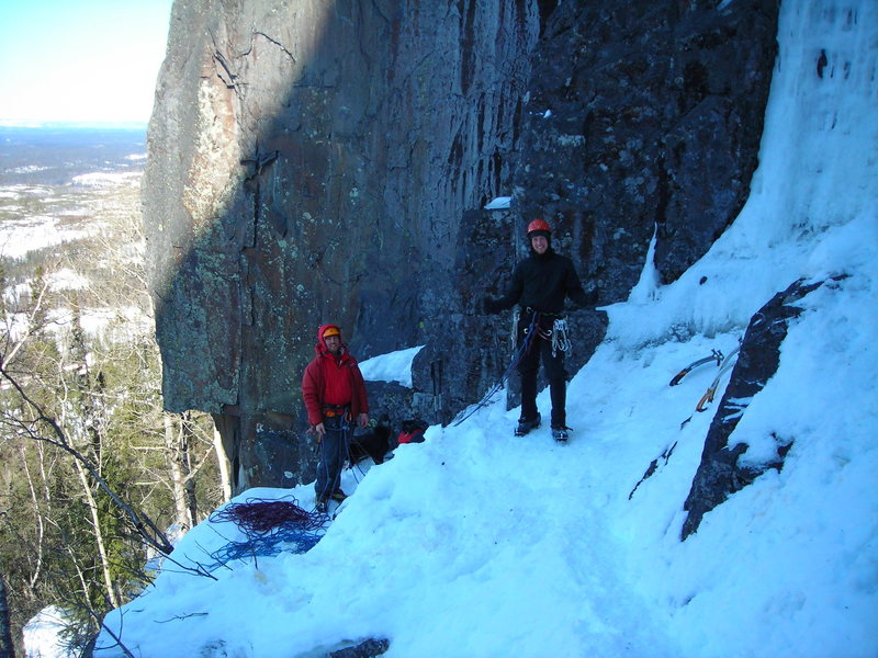 Rock Climbing Photo: Two fine gentlemen from Thunder Bay (and doggy- he...