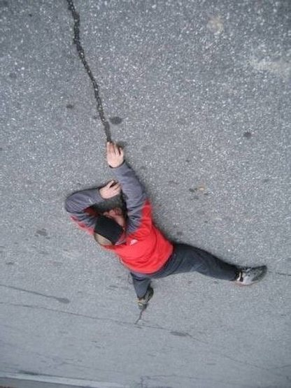 5.15 crack _ at Gunks parking lot ;)<br> (2007)