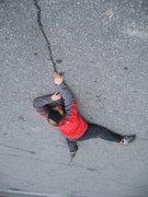 Rock Climbing Photo: 5.15 crack _ at Gunks parking lot ;) (2007)