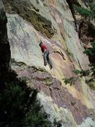 Rock Climbing Photo: Rob is setting up for the crux moves on Apple Stru...