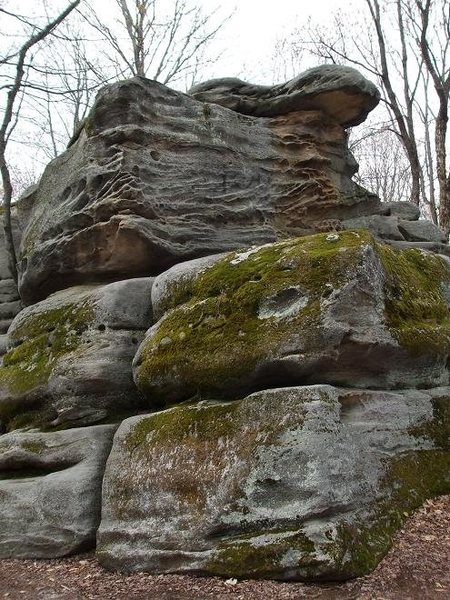 One of the larger boulders.