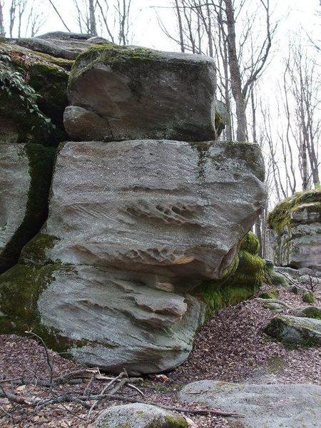 Medium sized boulder.