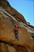 Rock Climbing Photo: Me sending Hobbit Roof 5.10d
