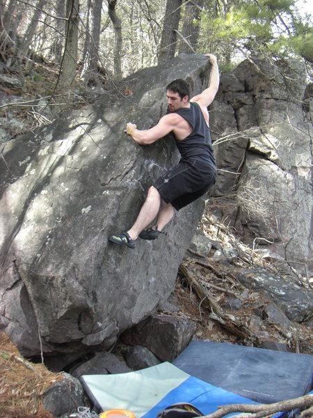Rock Climbing Photo: John taking a lap.