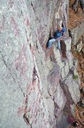 Rock Climbing Photo: Moving through the crux of Plethora. Photo: Sarah ...