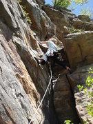 Rock Climbing Photo: starting up the 2nd pitch