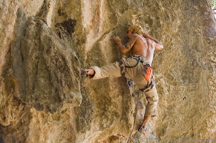 Rock Climbing Photo: Power scream! Crux on Foaming at the Mouth