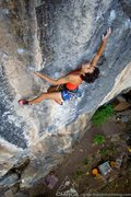 Rock Climbing Photo: Climbing on the sustained section of Intensify